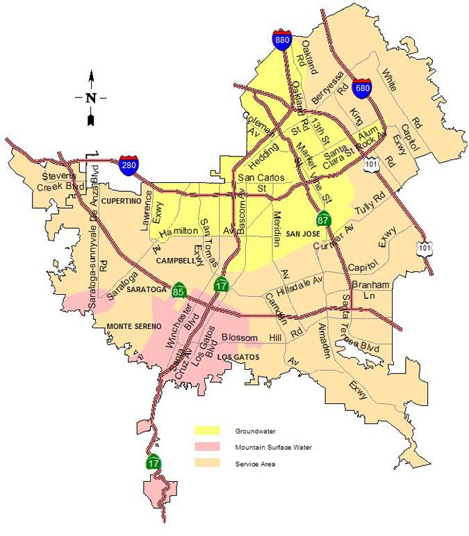 SJWC Service Area Map
