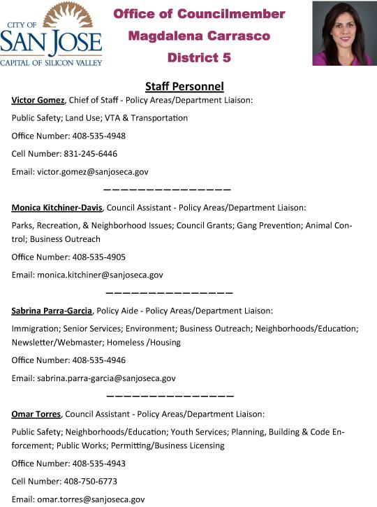 2015-01-14 Staff Personnel List